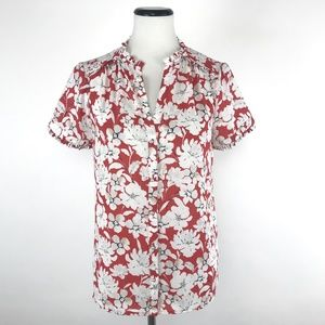 Karl Lagerfeld Floral Button Front Shirt #531